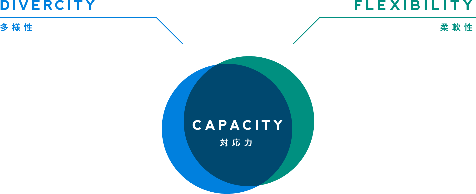 多様性、柔軟性、対応力